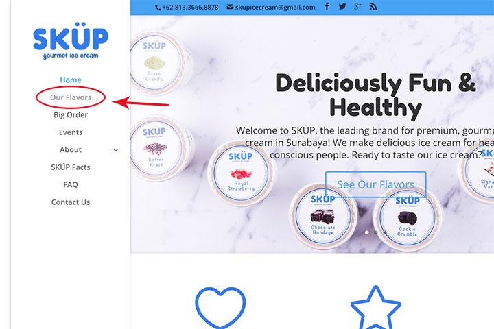 SKÜP Online Order Step 1