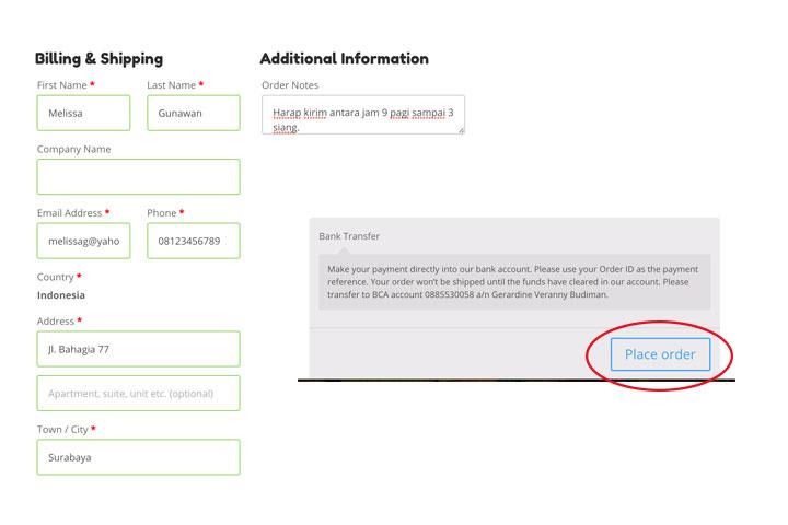 SKÜP Online Order Step 5
